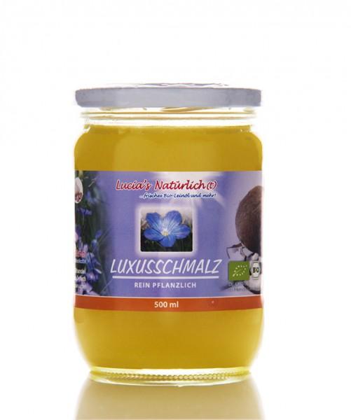 Lucia's BIO Luxusschmalz, 500 ml Glas