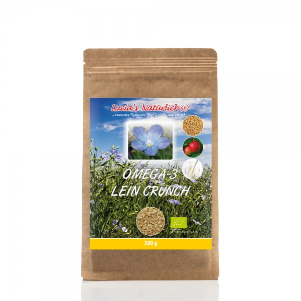 Lucia's BIO Omega Lein Crunch, 300 g Nachfüllpackung