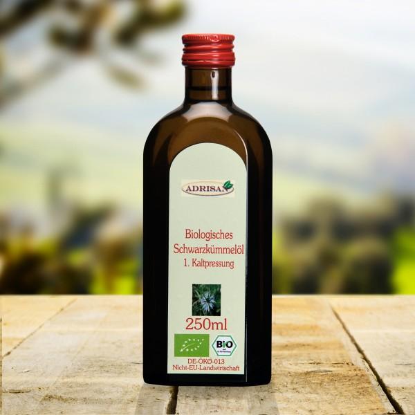 Bio Schwarzkümmelöl, 250ml Glasflasche, DE-ÖKO-013