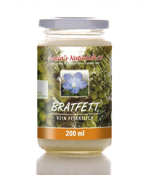 Lucia's BIO Bratfett, 200 ml Glas