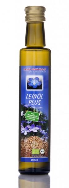 Lucia's frisches BIO Leinöl Plus mit frischem Weizenkeimöl mit natürlichem Vitamin E, 250ml