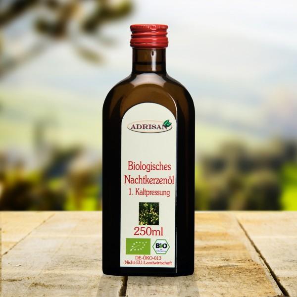 BIO Nachtkerzenöl, 250ml Glasflasche, DE-ÖKO-013