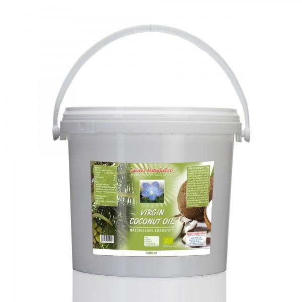 Lucia's BIO Virgin Coconut Oil (VCO), 5000 ml Eimer