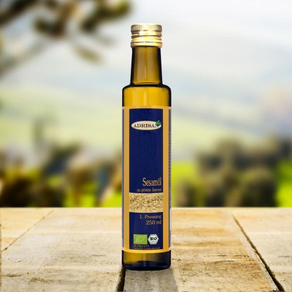 BIO Sesamöl geröstet, 250ml Glasflasche, DE-ÖKO-013