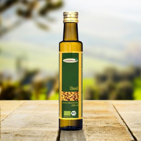 BIO Olivenöl, 250ml Glasflasche, DE-ÖKO-013